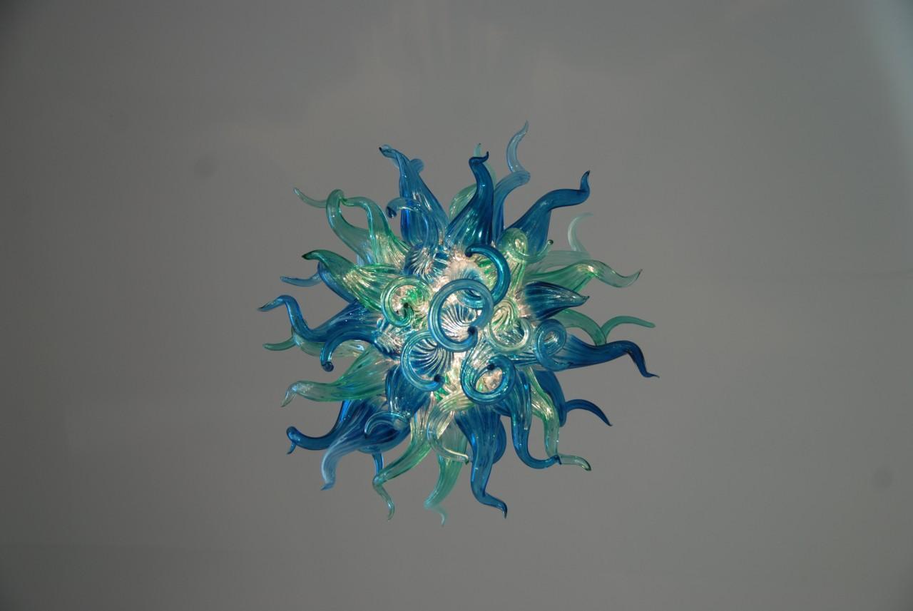 Творческий дизайн синий хрустальная люстра элегантный красивый ручной выдувного стекла Вилла Освещение люстра для столовой