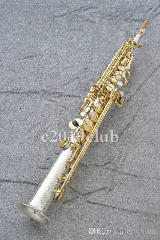 Yanagisawa S9930 Prima B Düz Soprano Saksafon Pirinç Gümüş Kaplama Vücut Altın Lake Anahtar Performans Müzik Enstrüman Sax Kılıfı