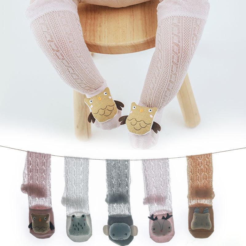 2020 Детских Новорожденных девочки Мальчик Knee High Long Носок Дети мультфильм кукла носки Летний дышащие носки Anti-Mosquito