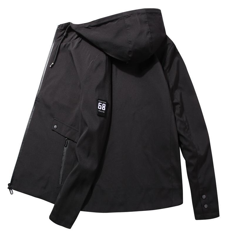 Moda Trend Erkekler Kapşonlu Ceketler İlkbahar Sonbahar Yeni Erkekler İnce Rahat Ceketler Coat Casual Vahşi Ceket Erkek