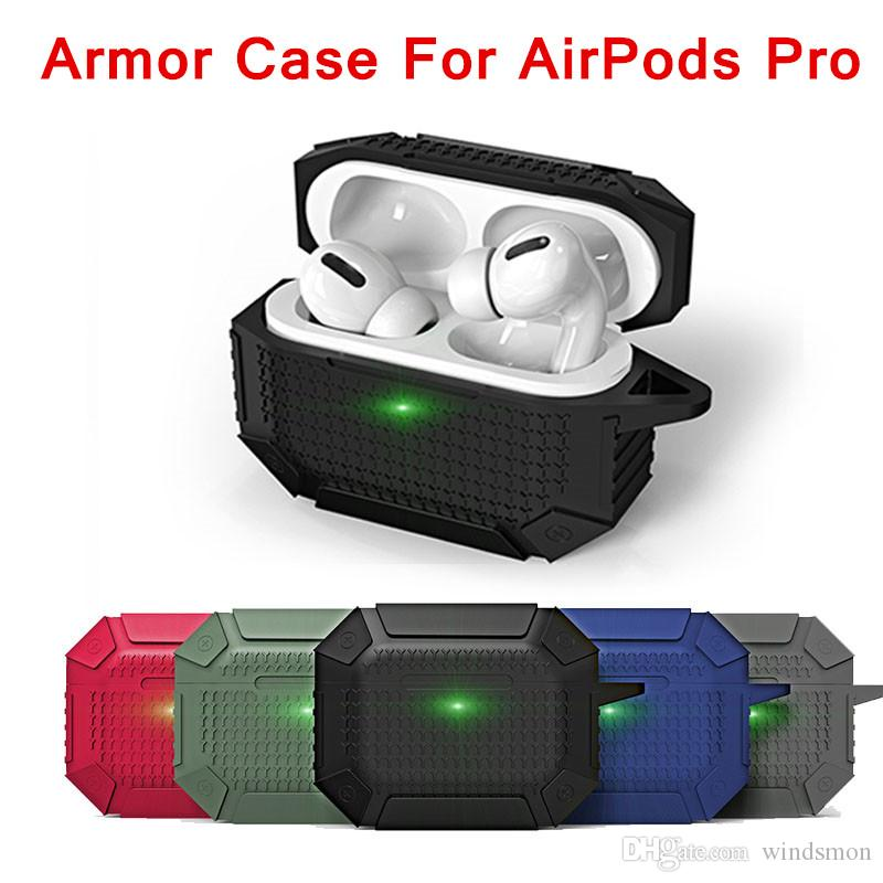 Heavy Duty Shockproof Earphone Case for Airpods Pro 3 Bags Case Cover Armor Soft TPU Full Protective Silicone Case