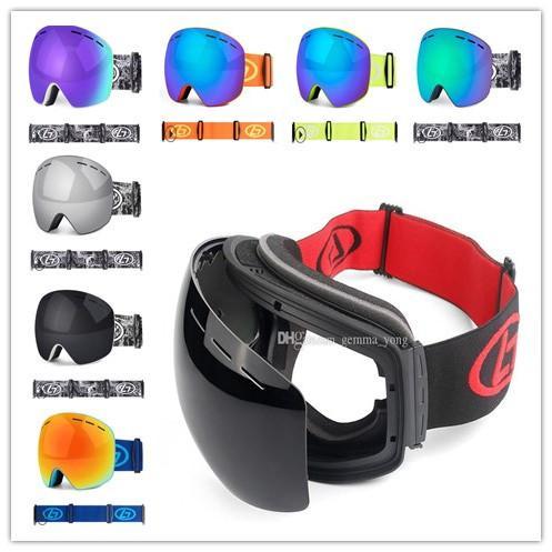 Gafas de nieve de invierno Gafas de esquí Snowboard de la nieve anti-vaho gafas de esquí Big Máscara Gafas protección UV 400 máscara a prueba de viento de la nieve para los hombres de las mujeres