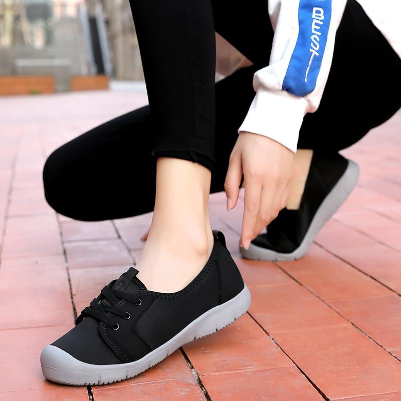 2019 donne Sneakers Fashion Calze Scarpe Neri casuali delle scarpe da tennis estivo a maglia Pattini vulcanizzati Scarpe da ginnastica Tenis Feminino 2019