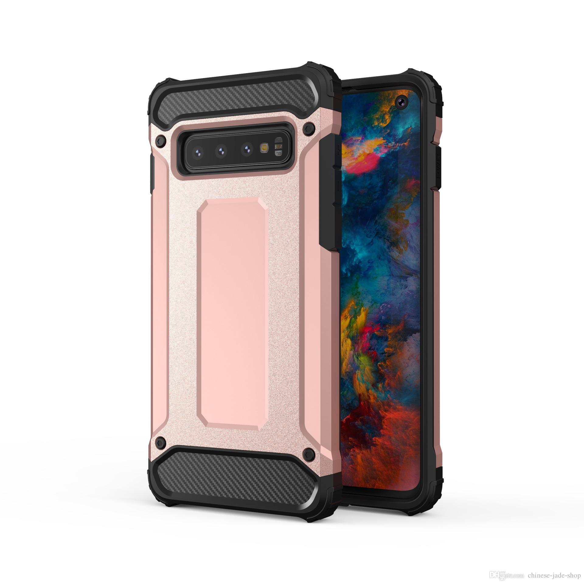 Armor Hybrid Defender Case TPU + PC Shockproof Cover voor Samsung Galaxy S10 S10 Plue S10E A10 A20 A30 A50 M10 M20 M30 220PCS / LOT