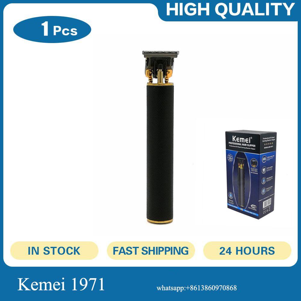 Kemei KM-1971 Pro esqueleto Heavy Hitter Trimmer Clipper cabelo máquina de corte trimer za Kosu taglia peli
