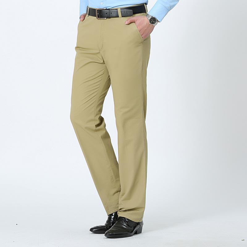 Pantalones MRMT 2019 Marca de la primavera y de los hombres de las holguras del verano pantalones flojos de algodón para male alta cintura largo Plancha