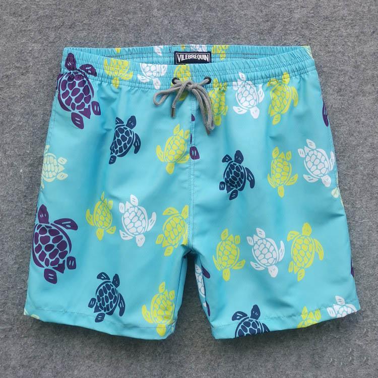 tortuga para hombre de la marea nueva moda de verano playa pantalones cortos pantalones cortos Mar impresa vida de la resaca del traje de baño Quick pantalones de playa seca 6 color M-2XL