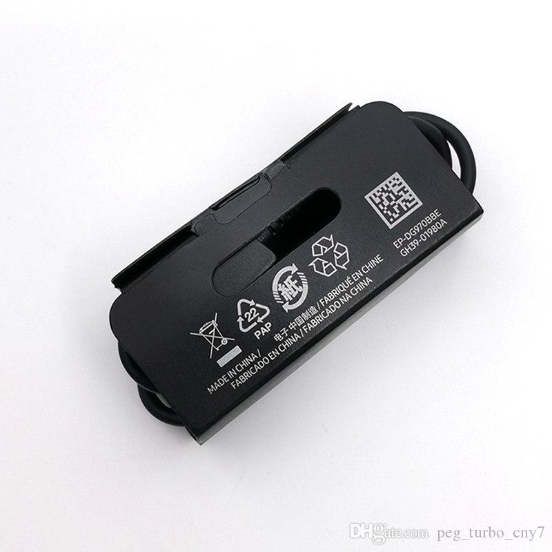 الأصلي OEM جودة USB نوع C كابل 1.2M 2A FAST سلك شاحن لسامسونج غالاكسي ملاحظة 10 S10 S10E S10P EP-DG970BBE