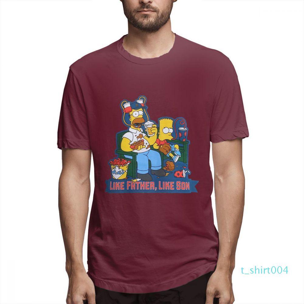 Moda Tasarımcısı Gömlekler moda tee Gömlek Grafik tee çiftler Gömlek Womens Simpsons Baskılı T Gömlek Casual Erkek Topsc1605t04