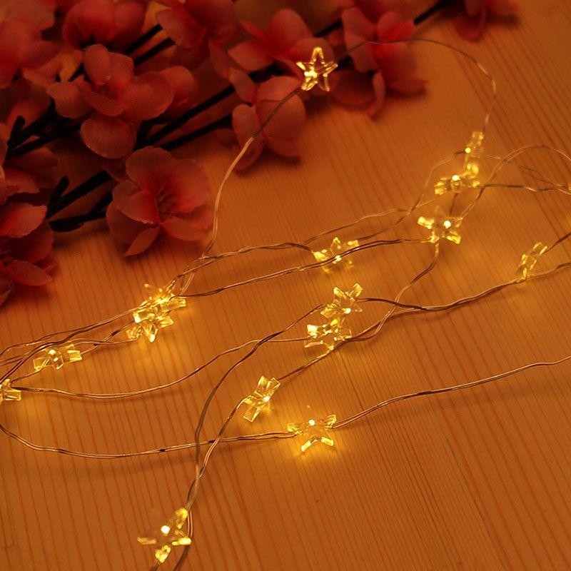 크리스마스 램프 휴일 파티 웨딩 장식 요정 조명 전원 크리스마스 장식 LED 스타 라이트 문자열 반짝 꼬마 전구 배터리