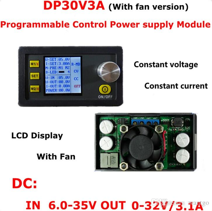 DP30V3A Constant Voltage and Current Step-down Programmable Power Supply Module Buck Voltage Converter LCD Display Voltmeter freeshipping