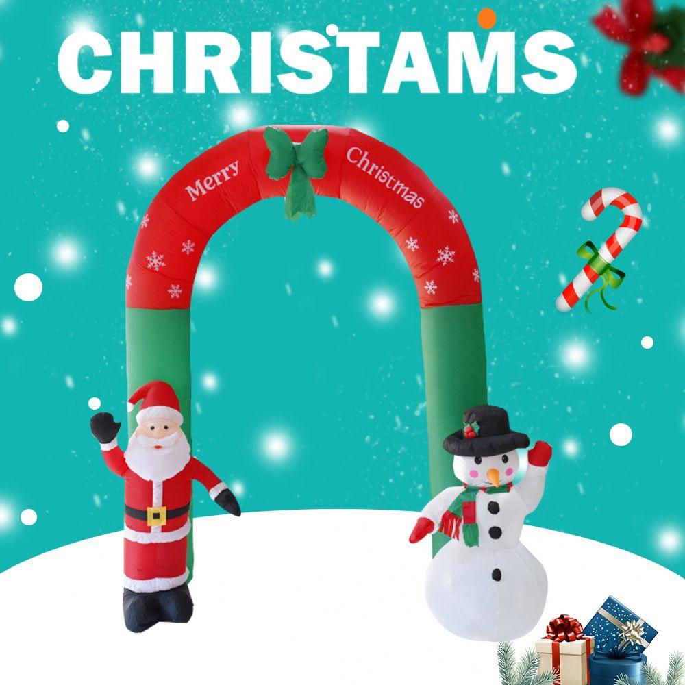 Inflable al aire libre Decoración de Navidad del muñeco de nieve de Santa Arch Merry Christmas Puntales de Home Shopping Barra de Navidad Decoración