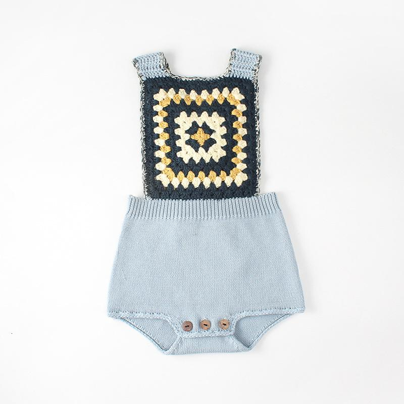 Knit Baby Romper Size 1-6 M
