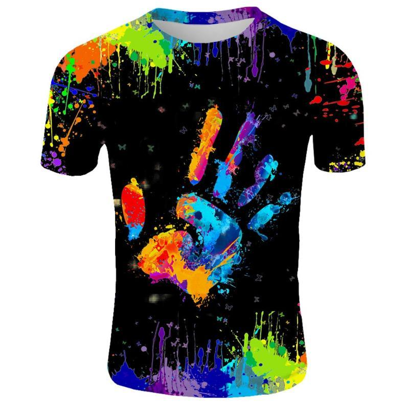 Casual manga corta camiseta hombre de las camisetas de moda los nuevos hombres de verano de impresión en 3D de la roca camiseta para hombre lleno Impreso