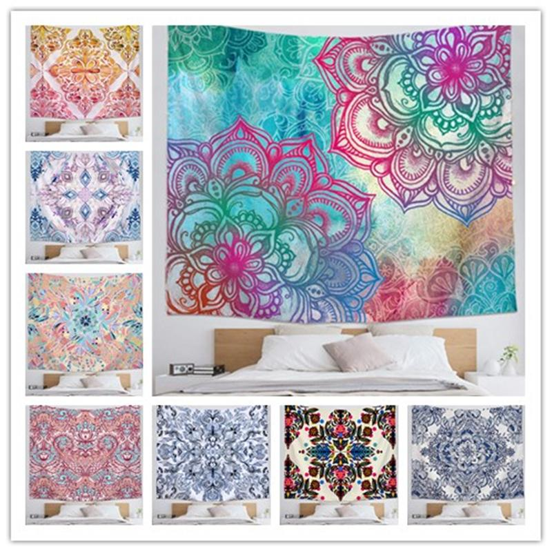 59*51 inch Mandala Of Live Tapestry Background Yoga Mat Home Cloth Beach Towel Living Room Decoration Customized Pictures