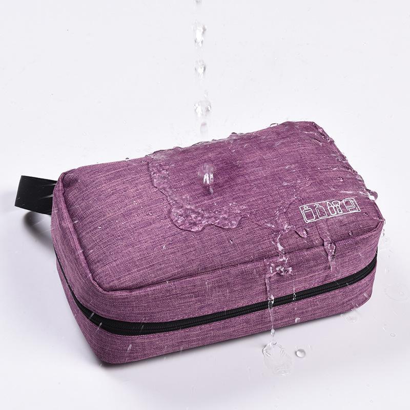 Multi-functional Cationic Makeup Bag Korean-style Simple Cosmetic Storgage Bag Waterproof Travel Portable Adhesive Hook Wash