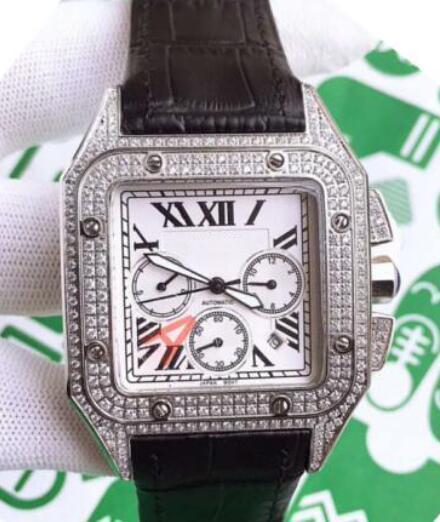 baodewatches offrire alta qualità del nuovo diamante di lusso della vigilanza del quarzo sweep Mens Movimento ghiacciato fuori in pelle Orologi sportivi