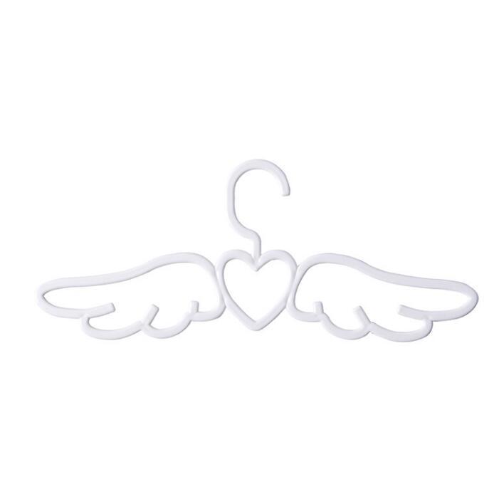 DHL Plastic Angel Clothes Shirt tie Hangers Underwear Hanger Racks with Loving ne Heart Cloth Racks for Scarf Dress 41*16cm