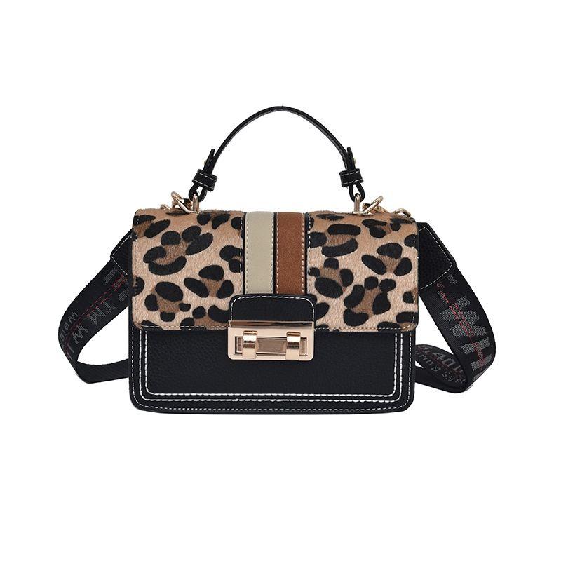 2018 Fashion Leopard Trendy Designer Chains Bag Female handbag Brand Luxury Women Crossbody Messenger Shoulder Bags Sac A Main #259302