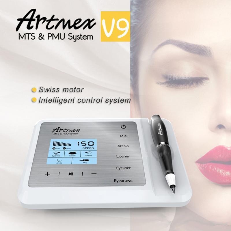 Artmex V9 Digital 2 in 1 Permanent Makeup Tattoo Machine Eyes Rotary Pen MTS PMU touch screen new arrival 2019