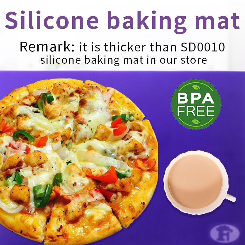 Tapis de table en silicone de qualité coussin pour la fabrication de pizzas au gâteau Kichen
