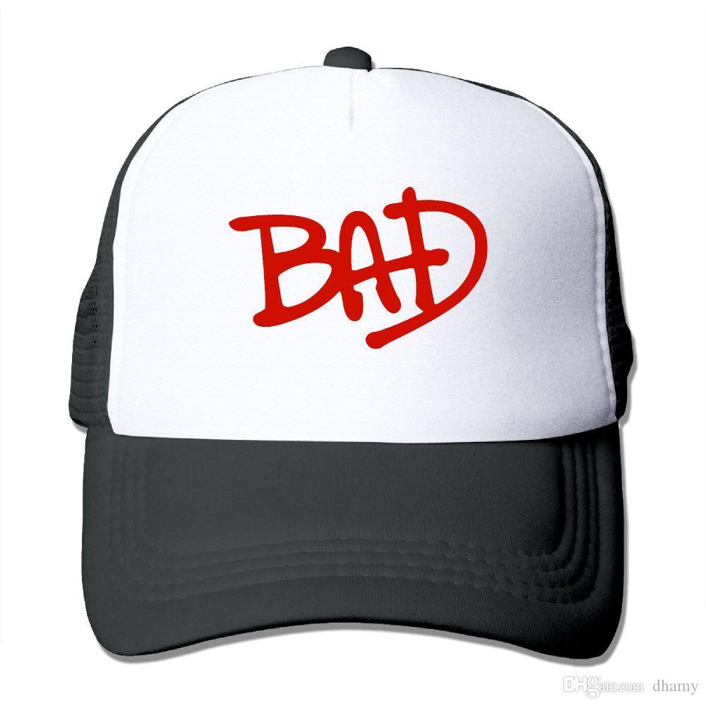 الرجال النساء مايكل جاكسون سيئة دائرة شعار سائق شاحنة كاب الجري كاب الصيف بارد البيسبول صافي سائق شاحنة قبعات الرياضة قبعة للبالغين