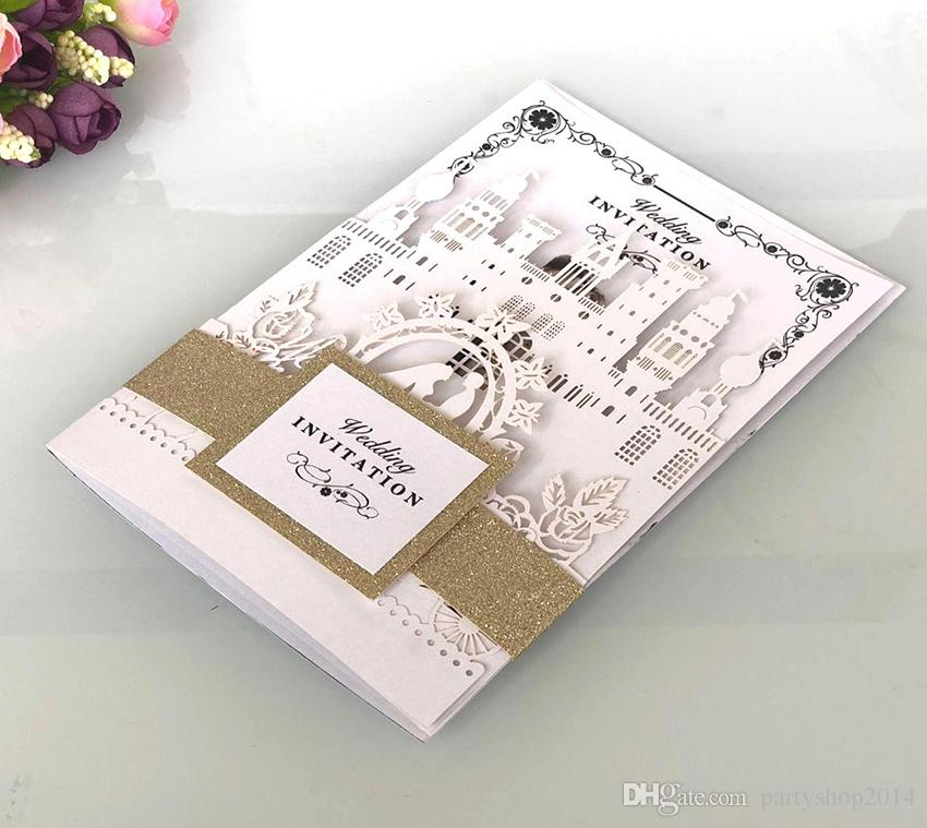 3d Wedding Invitation Card Envelope Inner Page Invitations Pocket Stereoscopic Vintage Invitations Cards P157 Free Wedding Invitations Samples