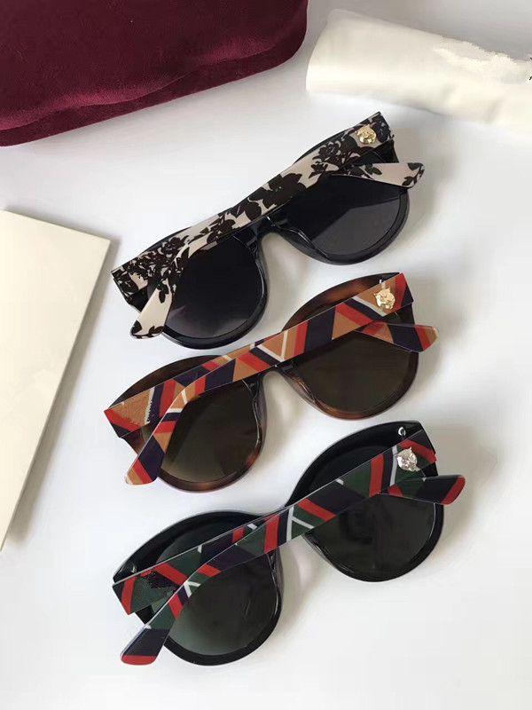 Óculos de sol populares moda Women Marca Designer 0028 Quadro Oval Verão Estilo Retângulo completa Top Quality Proteção UV vindo com caso