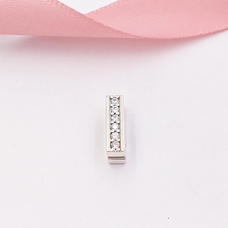 Otantik 925 ayar gümüş boncuk pandora refleksleri zamansız ışıltı klip çekicilik, şeffaf cz charms Avrupa pandora tarzı takı sütyen uyuyor