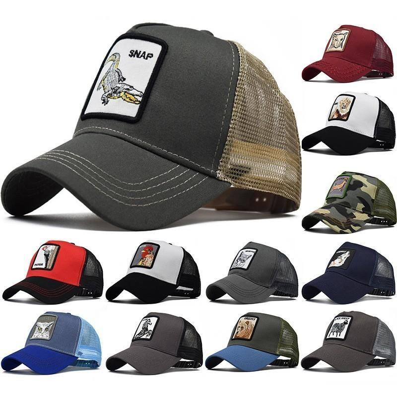 Hayvan Çiftliği Yama Beyzbol şapkası Geri Mesh Horoz Hat Balıkçılık Erkekler Kadınlar Güneş Caps yazdır