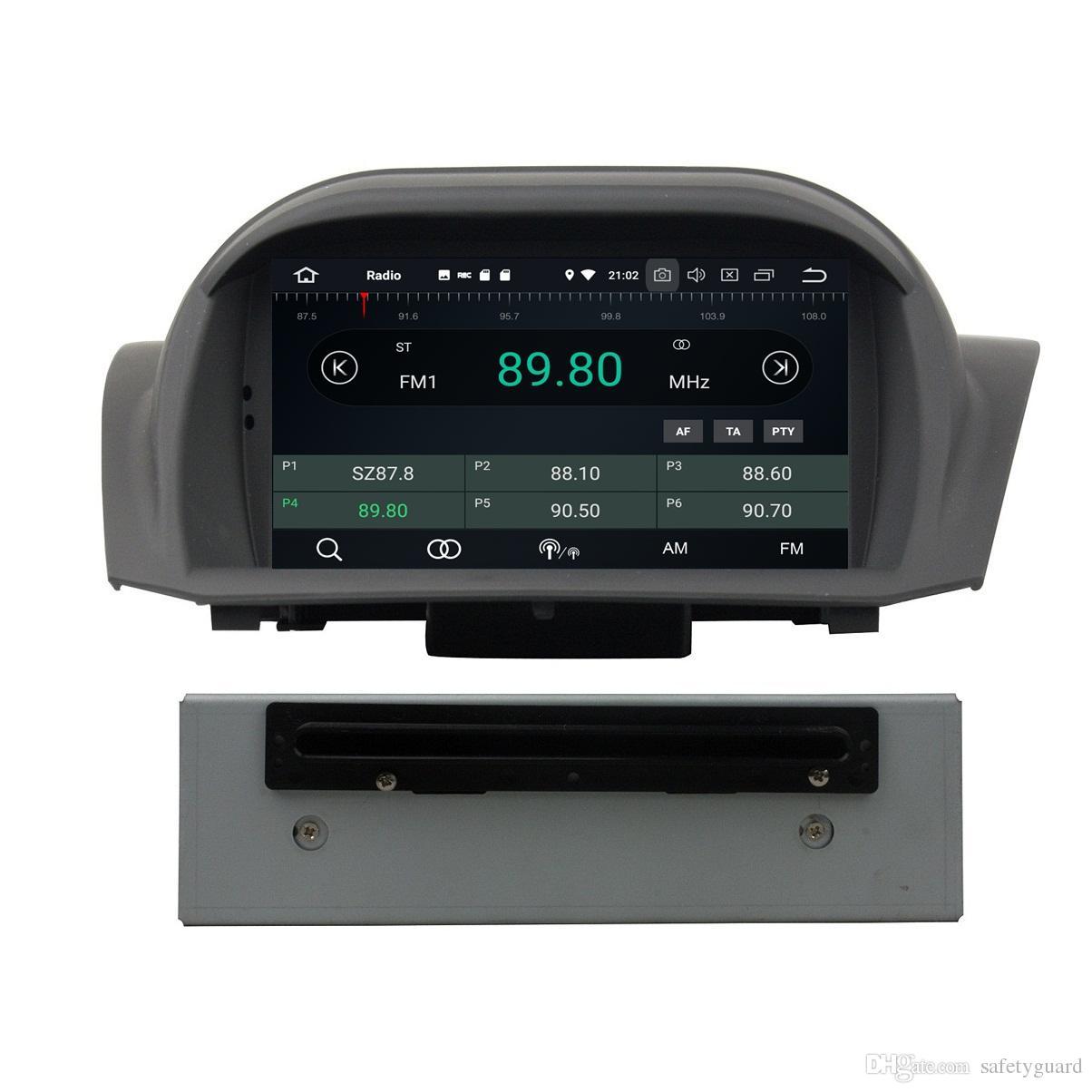 """안 드 로이드 8.0 Octa 코어 7 """"자동차 DVD GPS 포드 Fiesta 2011 2012 2013 2014 2015 2016 라디오 4 GB RAM 블루투스 와이파이 USB DVR 32 기가 바이트 ROM"""