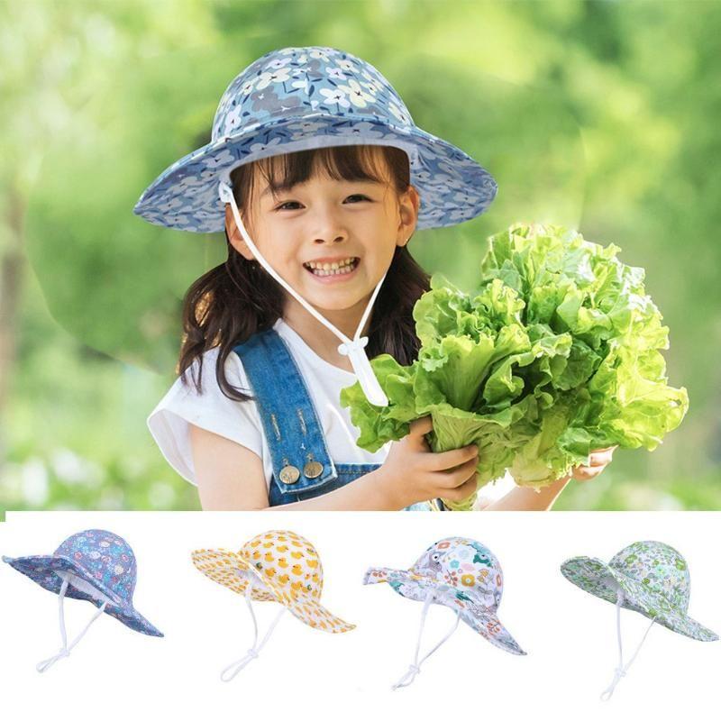 2020 New Summer Baby Sun Hat Children Outdoor Neck Ear Cover Anti UV Protection Beach Caps Boy Girl Beach Swimming Sun Hats#Y20