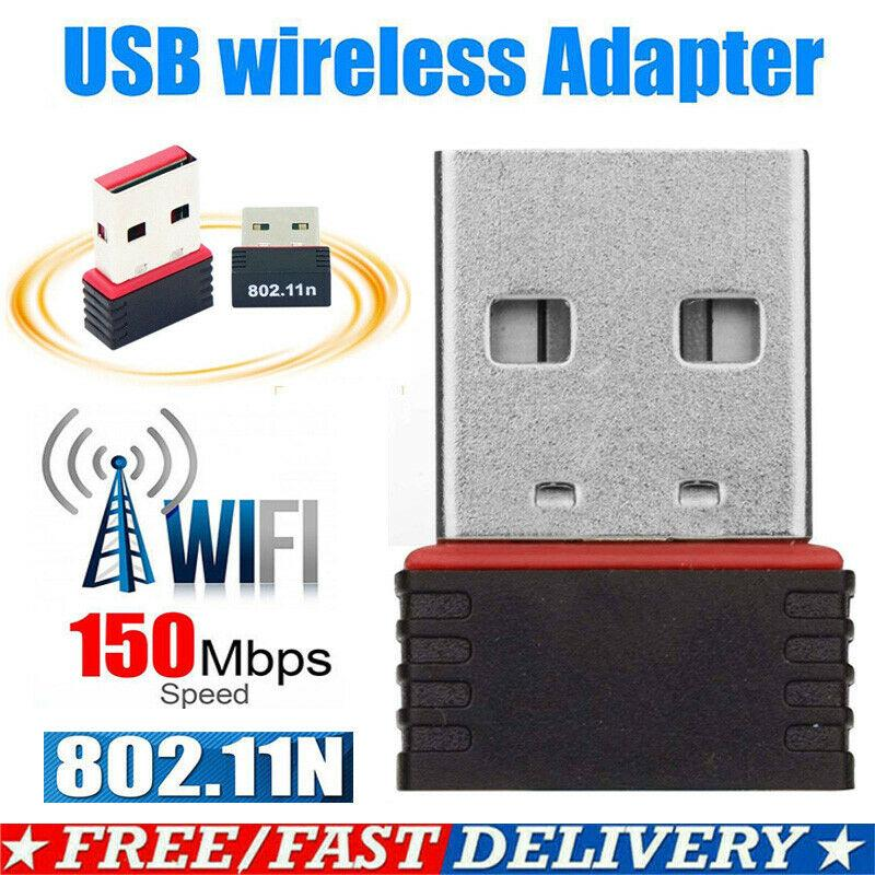150Mbps USB WiFi Realtek RTL8188 802.11b//g//n Wireless-N Antenna Adapter Dongle