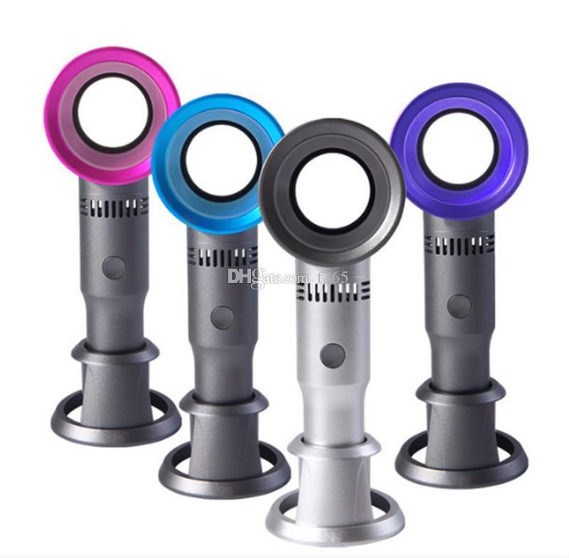 Zero9 USB 블레이드리스 팬 충전식 휴대용 휴대용 미니 쿨러 잎 핸디 팬 3 팬 속도 레벨 LED 표시기