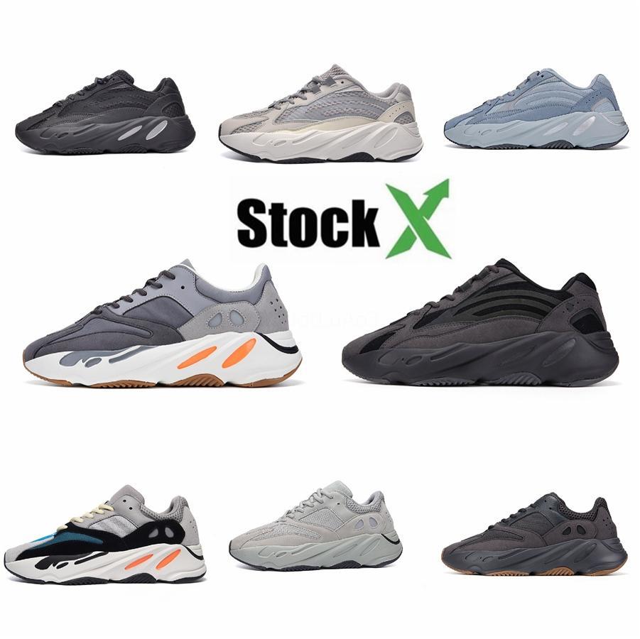 2020 Nueva Kanye West zapatillas 700 V1 V2 reflectantes 700S malva TealNbsp; HospitalNbsp azul; azul imán inercia Carbono Azul Vanta Run # DSK822