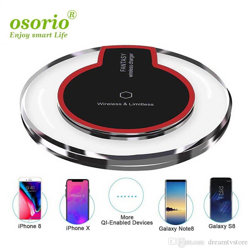High Quality Ultra-Thin Crystal K9 Qi Wireless Charger For iphone X Samsung S6 Fast Charge Pad Wireless Charging Base Transmitter Round