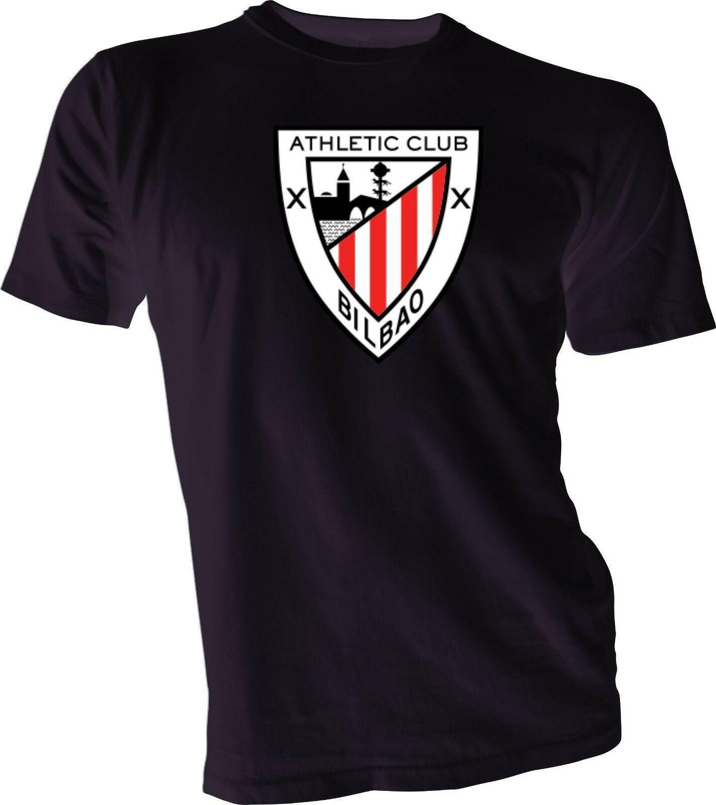 Athletic Club Bilbao Los Leones Spagna La Liga Calcio maglietta nera NUOVO