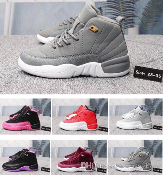 12s Designer 12 bambini di pallacanestro scarpe da ginnastica New Luxury Shoes Blu Bianco Rosso Grigio Viola nero per bambini ragazze dei ragazzi