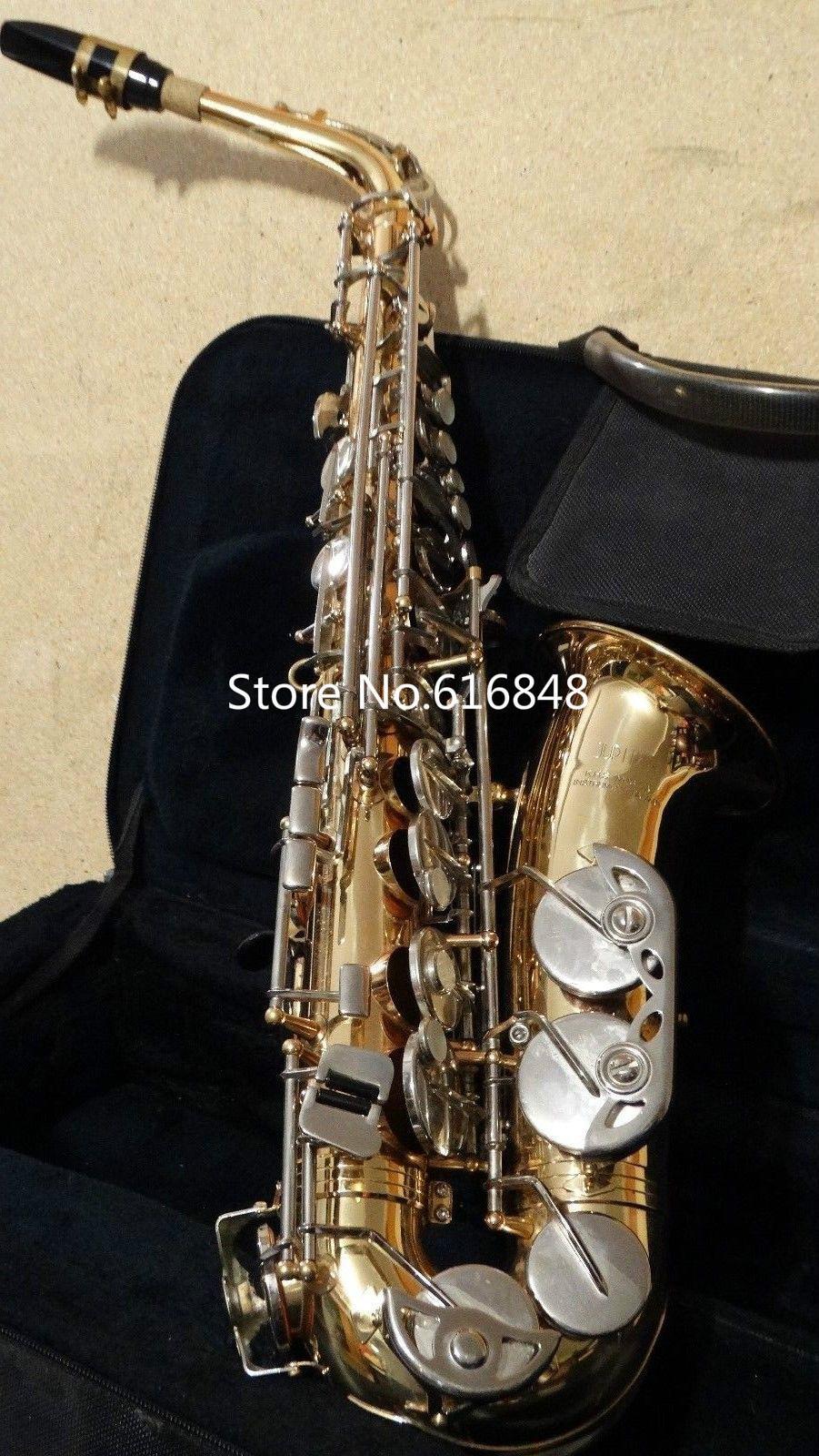 Yüksek Kaliteli JUPITER JAS 669-667 Eb Ayarlama Müzik Aletleri Alto Saksafon Altın Vernik Vücut Gümüş Kaplama Anahtar Sax Ücretsiz Kargo
