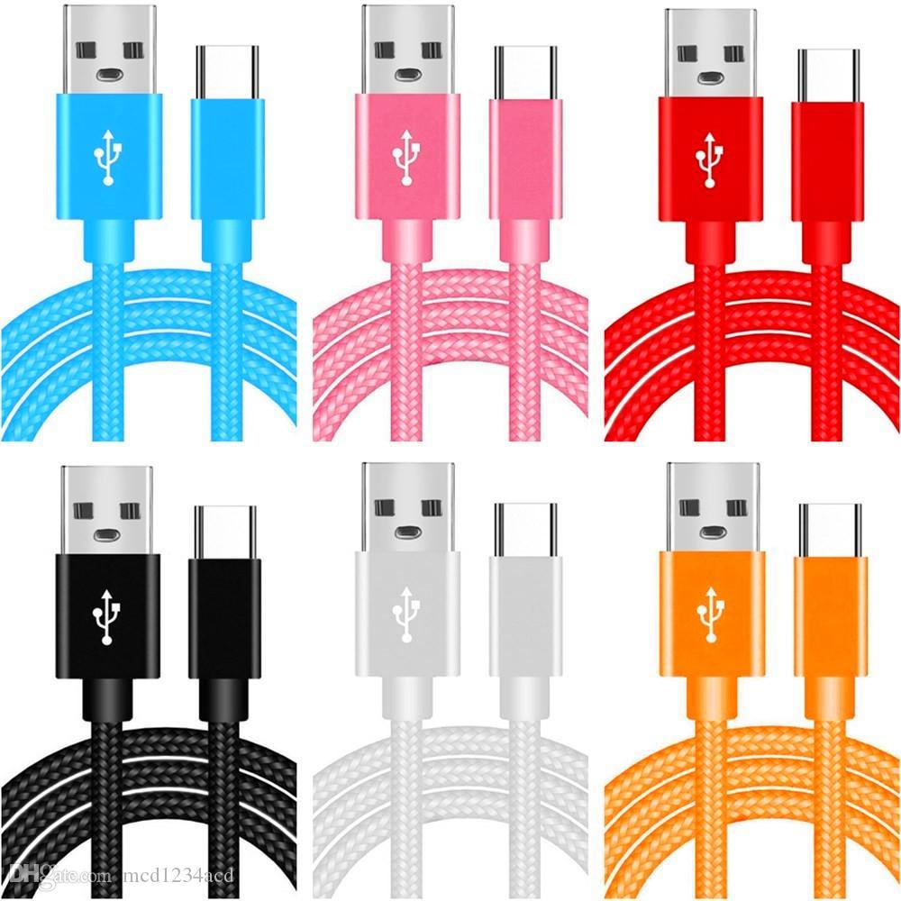 Metal Trançado Tipo C Micro USB Cabo Tecido Mais Espesso Cabos para Samsung S8 S9 S10 Nota 8 9 10 HTC Andriod Telefone