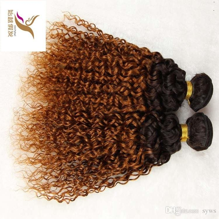 T1b 30 Two Color Virgin Brazilian Ombre Curly Hair Weave 10 30 Brazilian Human Remy Hair Extension 6a Unprocessed Double Weft Hair Wet N Wavy Human Hair Weave Human Hair Weave For Black