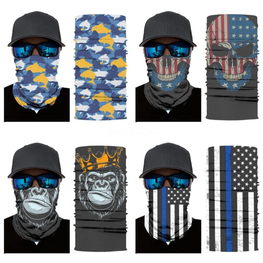 0GC9Y Hot Magic Mask Headskull Foulard Bandana Masques Masque tête Echarpes coupe-vent Sport Visage Cyclisme Avec filtre Designer OutdoorFlag # 992