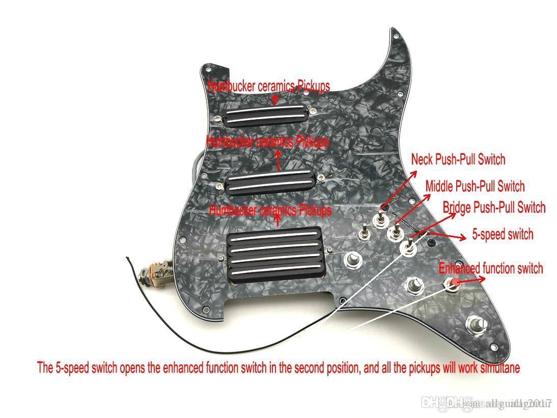 1 مجموعة تحميل prewired الأسود ssh التقاطات pickguard alnico المغناطيس للغيتار الكهربائي سترات الغيتار التقاطات سوبر، خيار لهجة متعددة محدودة