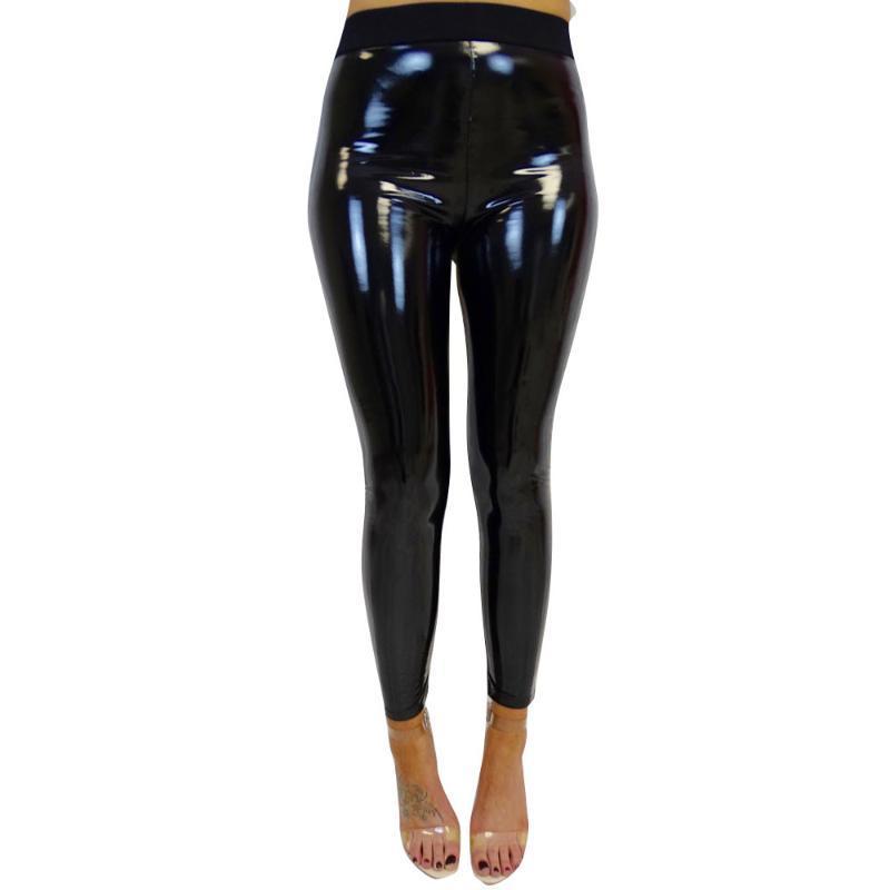 Кальсоны женщин Lady Strethcy Блестящей Спорт Фитнес гетры брюки Днище TrousersHigh талия упражнение йог штаны поножи #GM