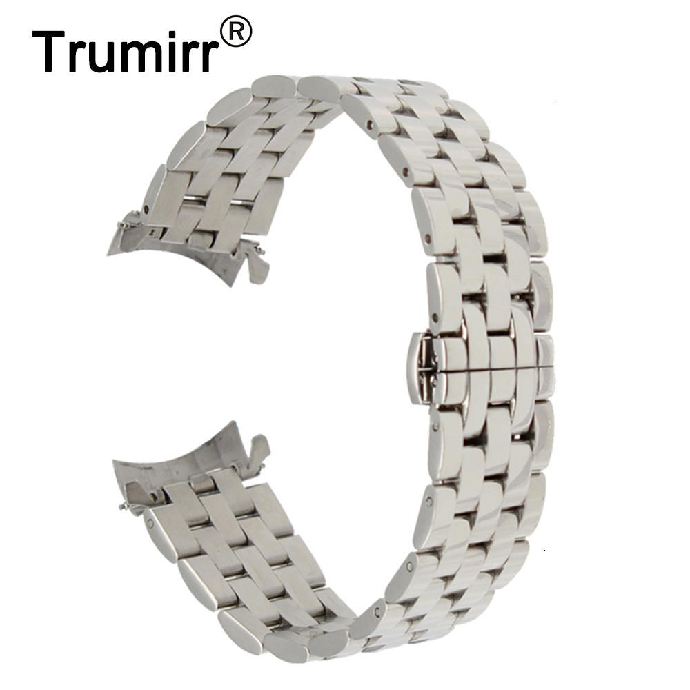 18mm 20mm 22mm 24mm Edelstahl-Uhrenarmband für Tissot T035 PRC200 T055 T097 Armband Schmetterling Schliesse Armband Armband am Handgelenk Y191030