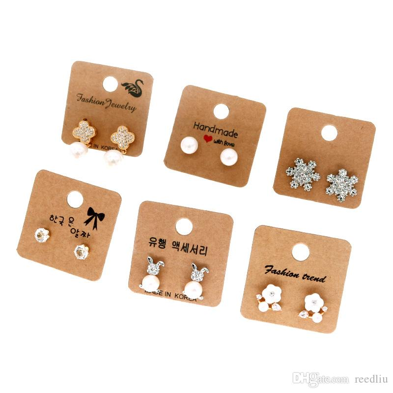 Necklace Cardboard With Earring Packing Tag Card 200psc Jewelry Set Display