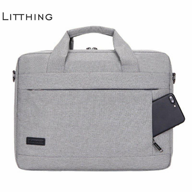 Litthing Large Capacity Laptop Handbag For Men Women Travel Briefcase Bussiness Notebook Bag For 14 15 Inch Macbook Pro Pc Y19051802