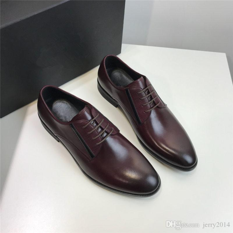 2019 styles Homme chaussures à bout pointu chaussures italiennes pour hommes