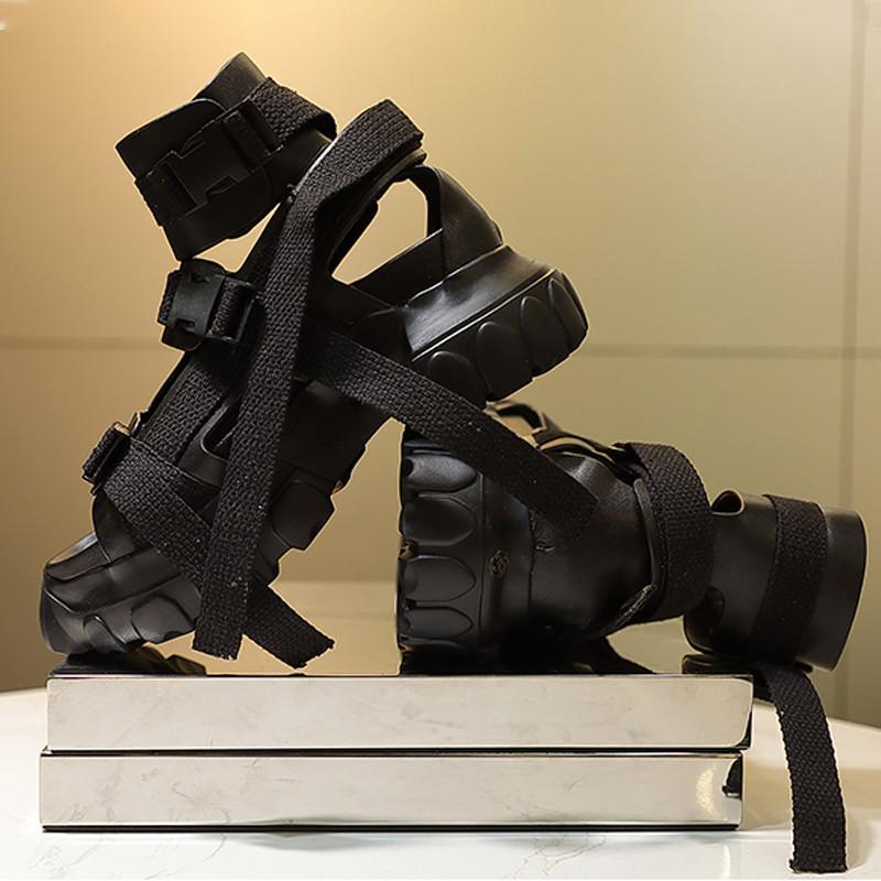 Plataforma Ro sandalias para los hombres transparente suela gruesa verano de los hombres zapatos grandes Tamaño Sandalia Masculina 12 # 21 / 20D50
