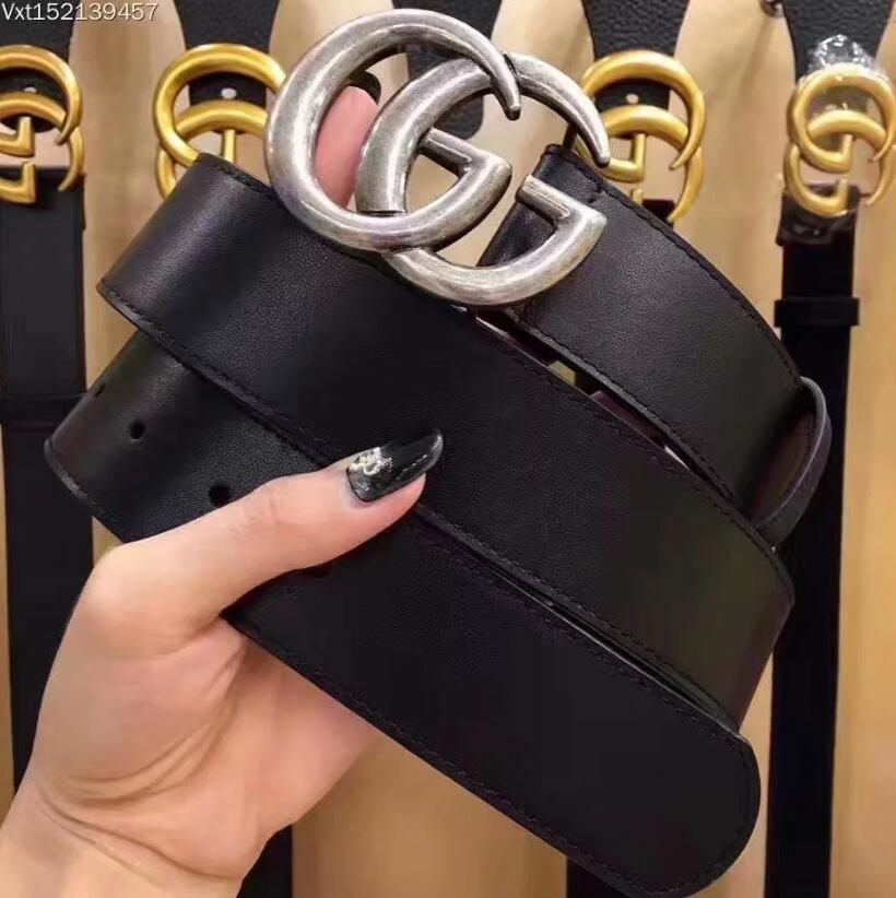 2020 Luxury Designer Of Mens And Women Belt With Fashion Big Buckle Real Leather Top Designer High Quality Luxury Belts 722